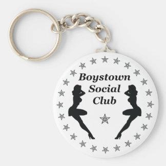 Boys town social club basic round button key ring