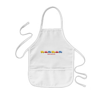 Boy's Toys Fun Colorful Car Bus Truck Gift Apron