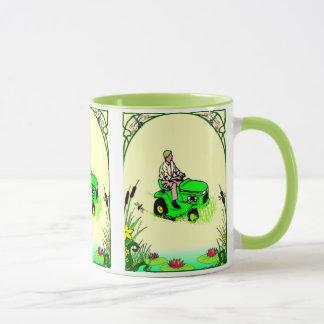 Boy's toys in the garden mug
