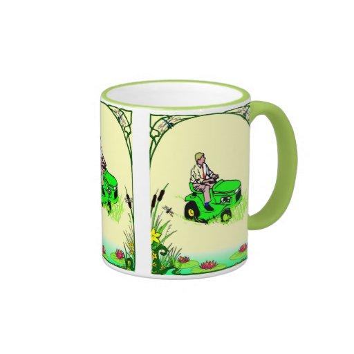 Boy's toys in the garden coffee mugs