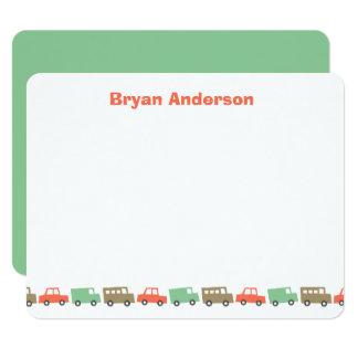Boys Toys Retro Kid's Thank You Card