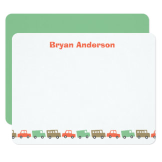Boys Toys Retro Kid's Thank You Card 11 Cm X 14 Cm Invitation Card
