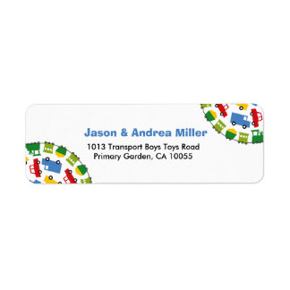 Boys Toys Transport Car Bus Train Address Labels