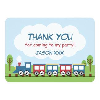 Boys Train 1st Birthday Thank You Card 11 Cm X 16 Cm Invitation Card