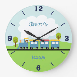 Boys Train Wall Clock
