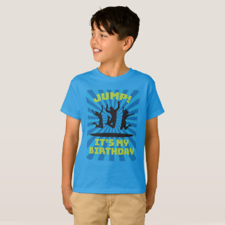 Boy's Trampoline Bounce House Birthday Party T-Shirt