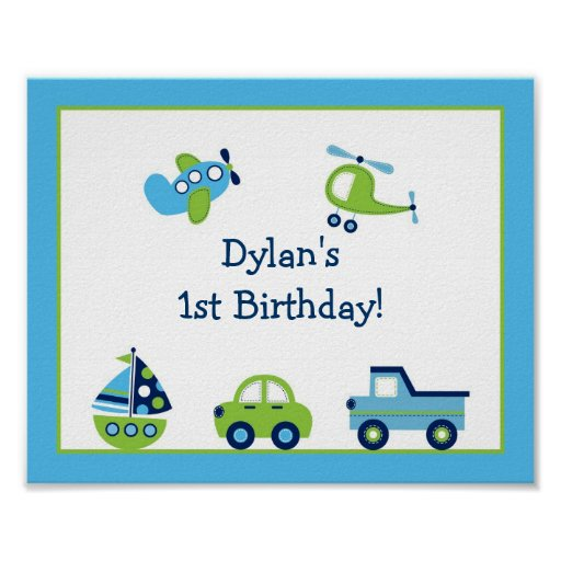 Nursery Wall Decor Transportation : Boys transportation nursery wall art print zazzle