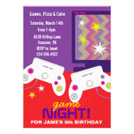 Boys Video Game Birthday Party Invites