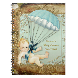 Boys Vintage Baby Shower Guest Book