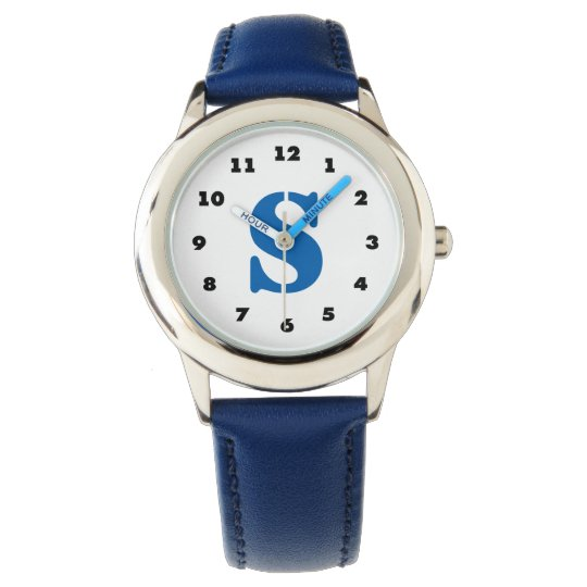 Boys watch | personalised letter S monogram