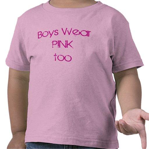 boys wear pink t-shirt
