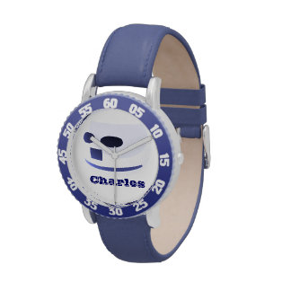 Boys Will Be Boys Personalizable Wristwatch