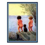 """Boys Will Be Boys"" Postcard"