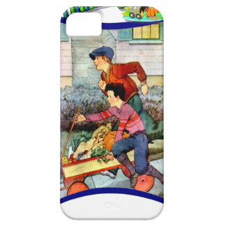 Boys with a cart of vegetables iPhone 5 case