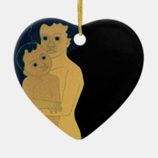 Boys with Topsy Ceramic Heart Decoration