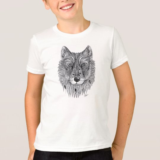 Boys wolf tee