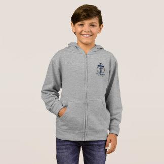 Boy's Zip-up: Traditional Logo Hoodie