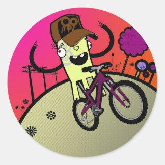 boz hill round sticker