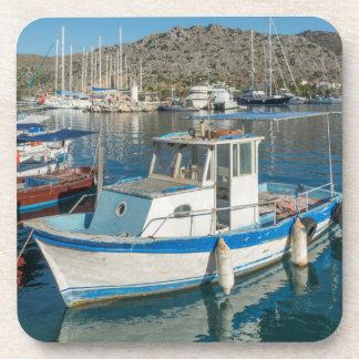 Bozburun Harbour Near Marmaris, Turkey Beverage Coaster