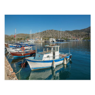 Bozburun Harbour Near Marmaris, Turkey Postcard