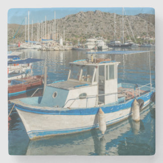 Bozburun Harbour Near Marmaris, Turkey Stone Beverage Coaster