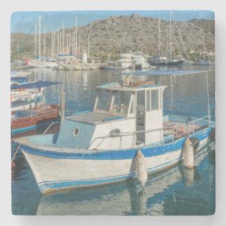 Bozburun Harbour Near Marmaris, Turkey Stone Coaster