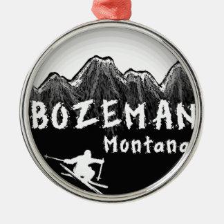 Bozeman Montana artistic skier Christmas Ornament