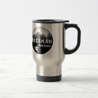 Bozeman Montana artistic skier Stainless Steel Travel Mug
