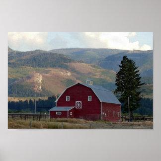 Bozeman, Montana, Barn Poster