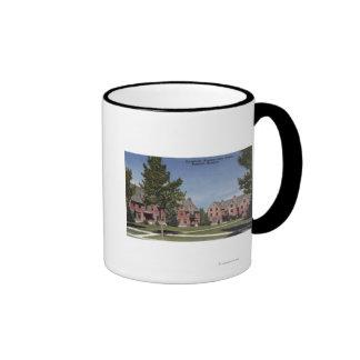 Bozeman, Montana - Dormitories at Montana State Ringer Mug