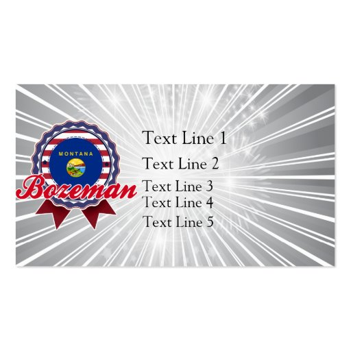 Bozeman, MT Business Card Templates