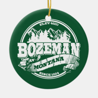 Bozeman Old Circle Green Christmas Ornament