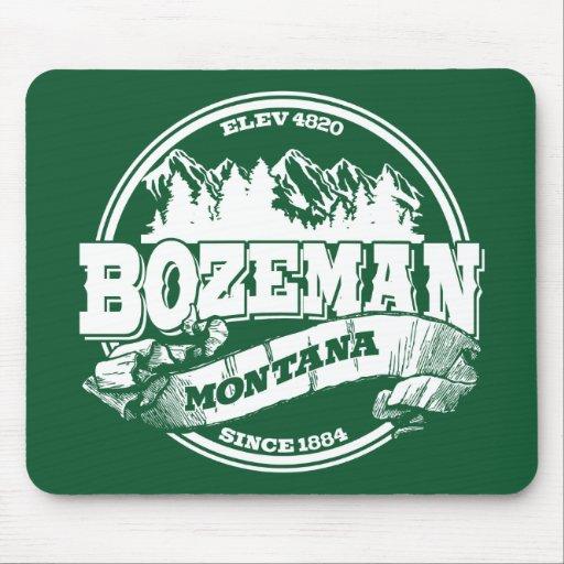 Bozeman Old Circle Green Mouse Pads