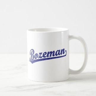 Bozeman script logo in blue mug
