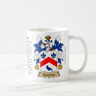 Bozeman, the Origin, the Meaning and the Crest Basic White Mug