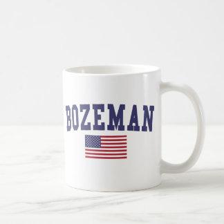 Bozeman US Flag Basic White Mug