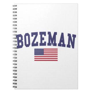 Bozeman US Flag Spiral Note Book
