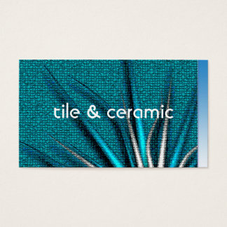 Bozeto Abstract IV, tile & ceramic Business Card