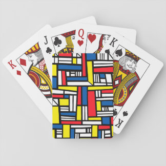 Bozinovich Abstract Expression Yellow Red Blue Playing Cards
