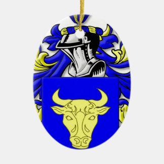 Bozzi Coat of Arms Ceramic Oval Decoration