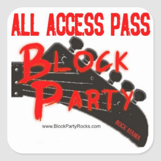 BP ALL ACCESS PASS SQUARE STICKER