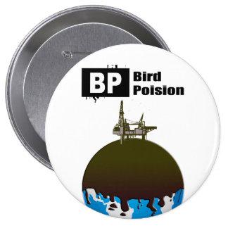 BP = BIRD POISON 10 CM ROUND BADGE