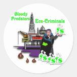 BP --  Bloody Predators Classic Round Sticker