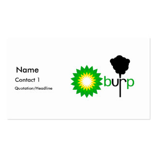 BP Burps Double-Sided Standard Business Cards (Pack Of 100)