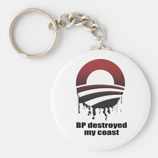 BP DESTROYED MY COAST KEY CHAINS