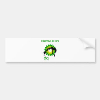 BP oil disaster upside down Bumper Stickers