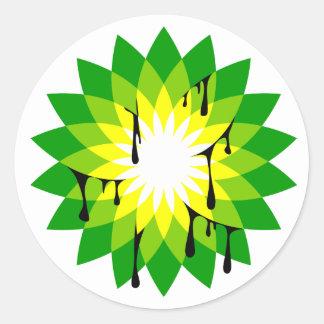 BP Oil Leak Classic Round Sticker