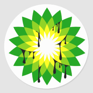 BP Oil Leak Round Sticker