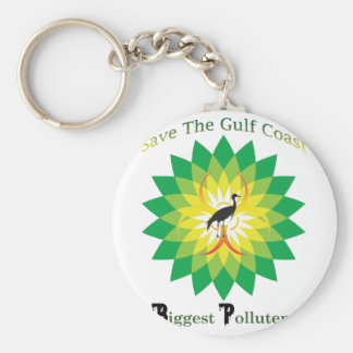 BP Oil Spill Basic Round Button Key Ring