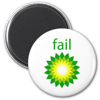 BP Oil Spill Fail Logo 6 Cm Round Magnet